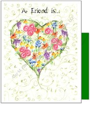 Friendship - Heart of Flowers Greeting Card