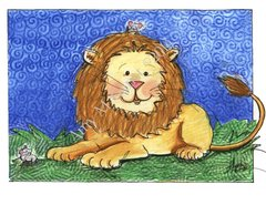 Lion and Friends Birthday Greeting Card