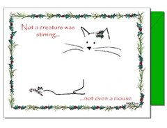 Cat and Mouse Christmas Card