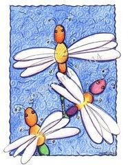 Encouragement - Dragonflies Greeting Card