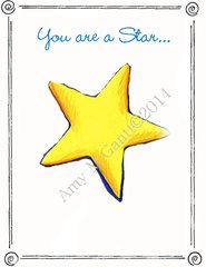 Congratulations - You are a Star... Greeting Card