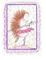 Hedgehog Dancing Birthday Greeting Card