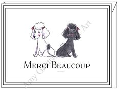 Merci Beaucoup Poodles Boxed Note Cards