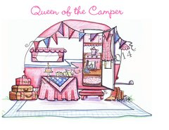 Queen of the Camper Friendship Greeting Card