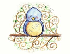 Blue Bird Thank You Greeting Card