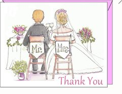 Thank You - Mr. and Mrs. Thank You Boxed Note Cards