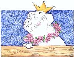 Encourgement - Queen Swine Greeting Card