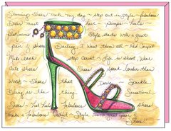 Green Stiletto Birthday Greeting Card