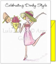 Celebrating Derby Style Boxed note cards