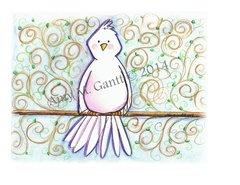 Cope - Birdy Greeting Card