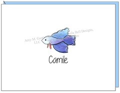 Coastal - Blue Fish Boxed Note Cards