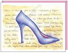 Cinderella Blue Slippers Birthday Greeting Card