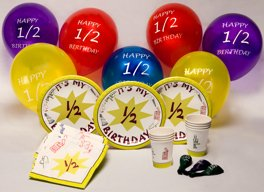 half birthday party kits party supplies Half Birthday Parties