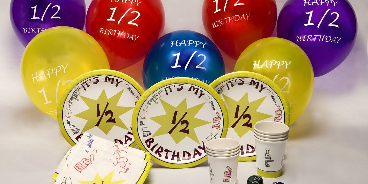 Half Birthday Parties Offers Party Supplies For Your Special Day