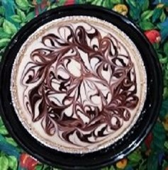 Chocolate Swirled Key Lime Pie