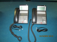 NEC UX5000 Group Of 2 12 Button Phones Black