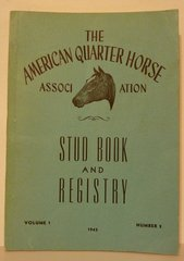 AQHA Stud book and registry Vol. 1 no. 2 1943
