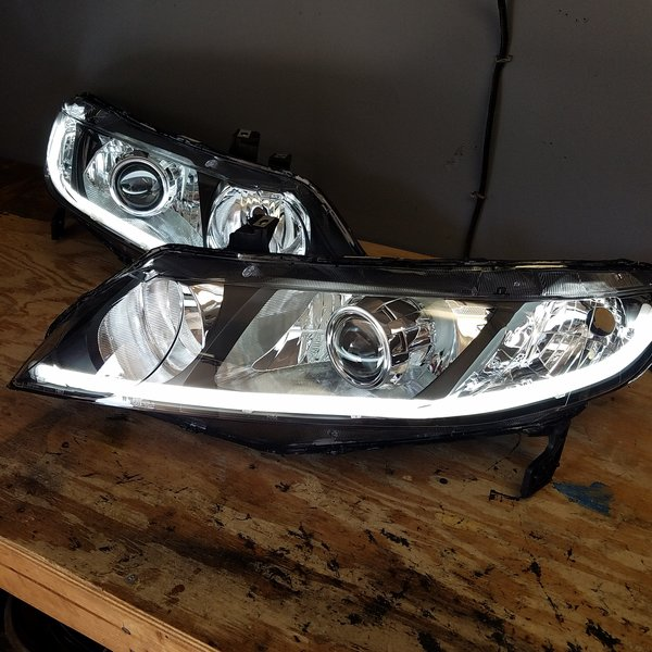 Led Shop Lights With Reflector Shrouds: Retofit Headlights