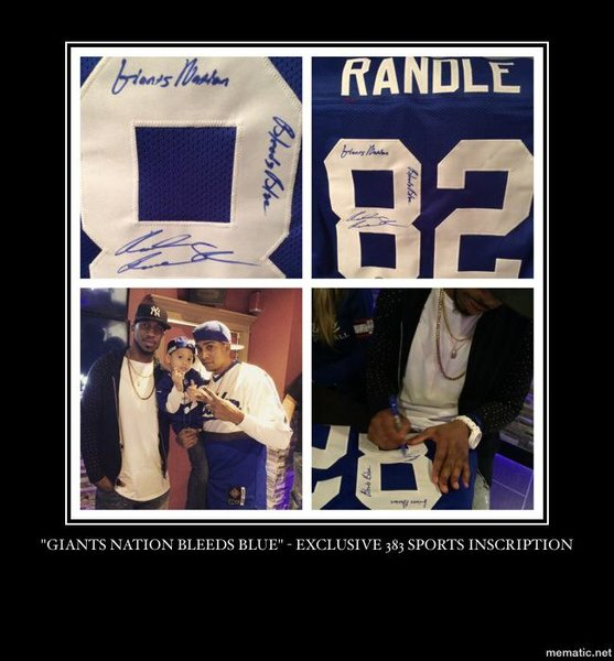 NY Giants Rueben Randle Autographed   Inscribed Jersey  4652ad9cb