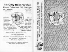 It's Only Rock 'n' Roll 1985 program