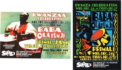 Pair of Baba Olatunji Kwanzaa postcards