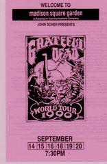 Grateful Dead handbill 1990 - pink