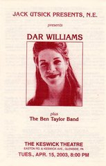 Dar Williams - two handbills
