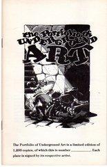 Portfolio of Underground Art - Booklet only