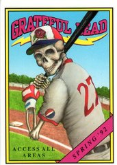 Grateful Dead Spring Training backstage pass postcard