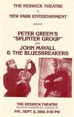 John Mayall concert handbill