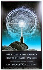 Art of the Dead - Artrock exhibit poster 1997