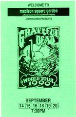 Grateful Dead handbill 1990 - green