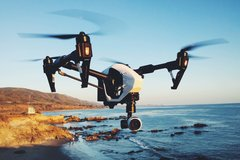 DJI INSPIRED QUAD COPTER DRONE WITH 4K CAMERA AND REMOTE CONTROLLER