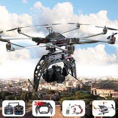 Turbo Ace X88-J2 DualOperator Octocopter C-RTF w/ 8S &12S & ProDSLR Gimbal: DJI WK-M,GPS, Telemetry, Foldable, Carbon Prop, 6.5LB Payload