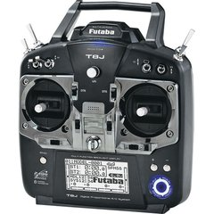 RADIOS Futaba 8JH 8-Channel 2.4GHz S-FHSS Computer Radio System with R2008SB Receiver
