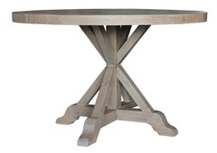 Bavaria 120cm Round Dining Table in Salvage Grey