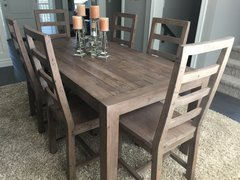 Coventry FSC 180cm Fixed Top Dining Table in salvage grey