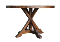 Bavaria 120cm Round Dining Table in coffee bean