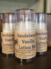 Sandalwood Vanilla Lotion Bar Stick