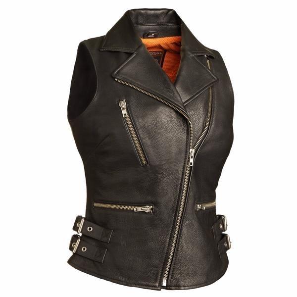 """Ladies """"Sexy Goddess"""" Leather Vest"""