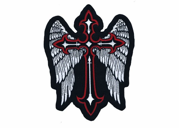 Large Wing And Cross Back Patch