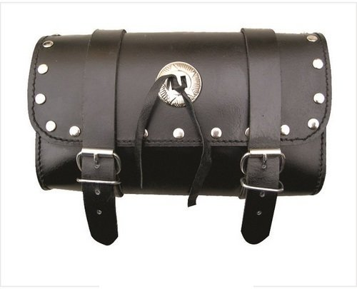 Medium Studded Leather Toolbag with Conchos