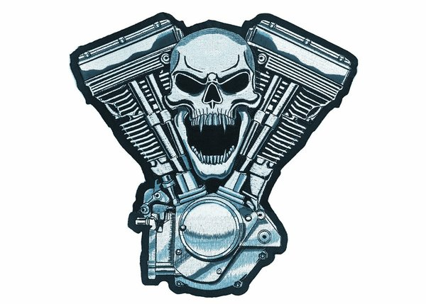 Large Skull V-Twin patch