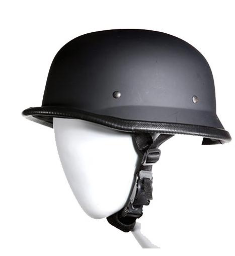 Novelty Flat Black German Helmet