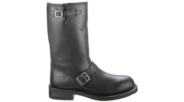 """Men's Bates Palomar Engineer 11"""" Leather Boots In Black"""