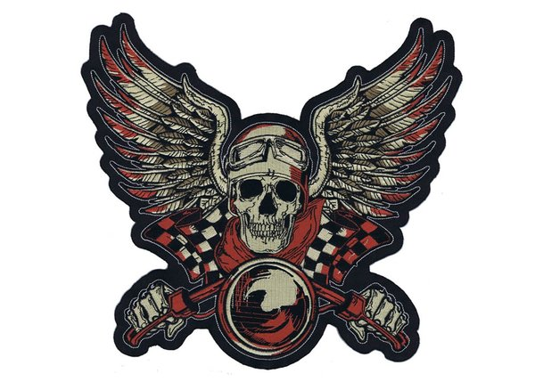 Vintage Biker Red 10″ x 11″ Patch