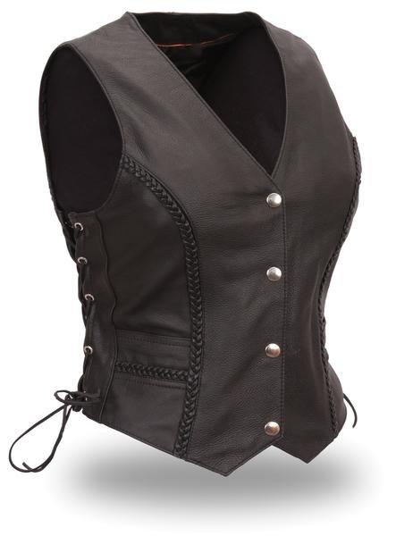 "Women's ""Trinity"" Braided Leather Vest"