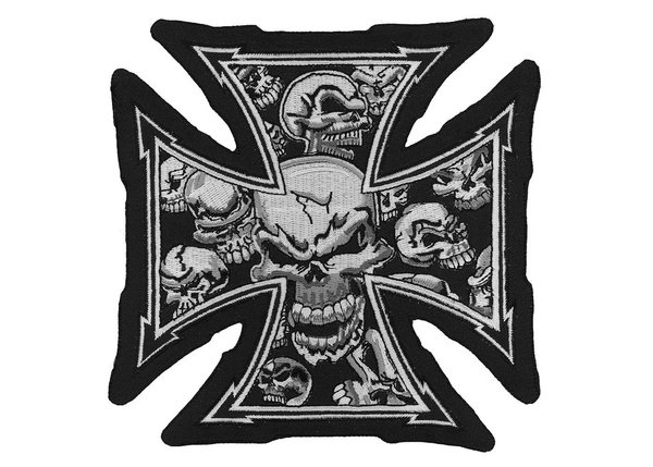 Iron Cross with skulls patch