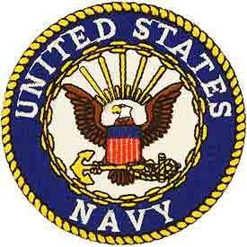 United States Navy Logo Patch (White Text)