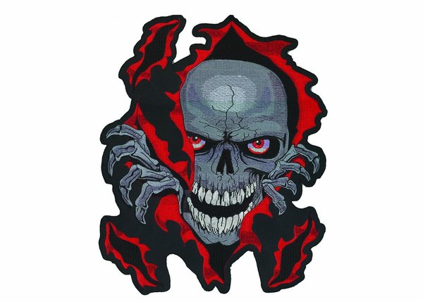 Large Skull Tear Back Patch